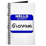 hello my name is giovani Journal