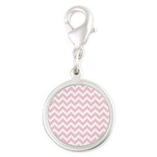 Soft Pink White ZigZag Charms