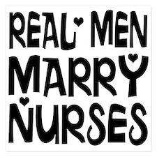 Real men marry nurses Invitations