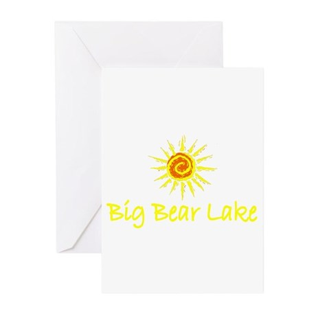 Big Bear Lake, California Greeting Cards (Package
