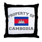 Cambodia Throw Pillow