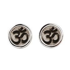 Om, Yoga by Vetro Jewelry & Design Cufflinks
