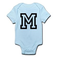 Personalized Monogram M Body Suit For Baby Boy
