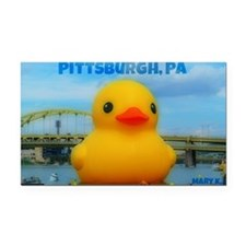 Rubber Duck Rectangle Car Magnet