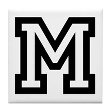 Personalized Monogram M Tile Coaster