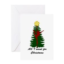 All I Want for Christmas Pole Dancer Black Greetin