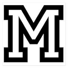 Personalized Monogram M Invitations
