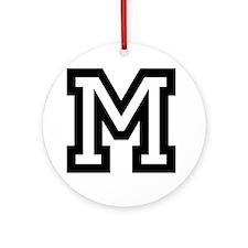 Personalized Monogram M Ornament (Round)