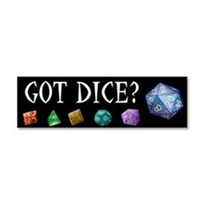 Unique Rpg dice Car Magnet 10 x 3