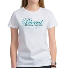 Blessed & Highly Favored Ash Grey T-Shirt