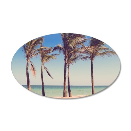 Paradise 35x21 Oval Wall Decal
