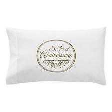 33rd Anniversary Pillow Case