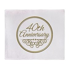 40th Anniversary Throw Blanket