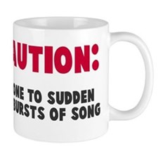Caution Outbursts of Song Coffee Mug