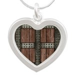 Medieval Chest Silver Heart Necklace