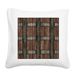 Medieval Chest Square Canvas Pillow