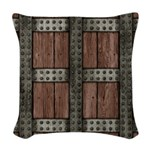 Medieval Chest Woven Throw Pillow