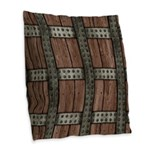 Medieval Chest Burlap Throw Pillow