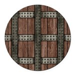 Medieval Chest Round Car Magnet