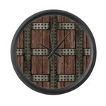 Medieval Chest Large Wall Clock