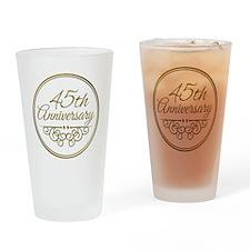 45th Anniversary Drinking Glass