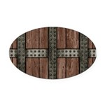 Medieval Chest Oval Car Magnet