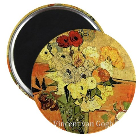 Vase with Peonies and other flowers. Vincen Magnet