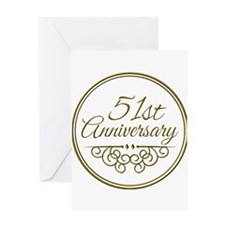 51st Anniversary Greeting Cards