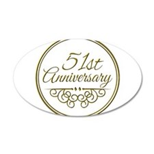 51st Anniversary Wall Decal