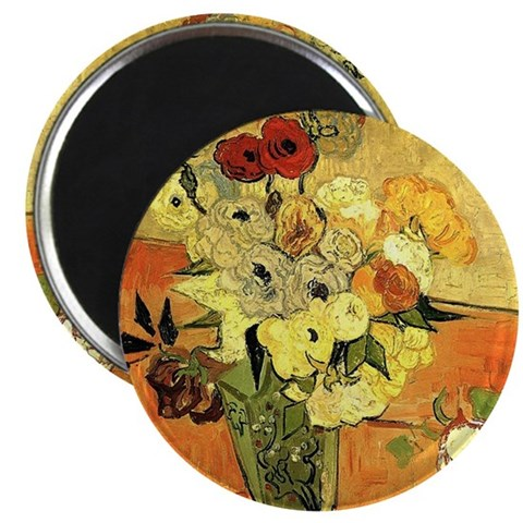 Vase with Peonies and other flowers. Van Go Magnet