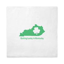 Getting Lucky in Kentucky Queen Duvet