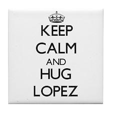 Keep calm and Hug Lopez Tile Coaster
