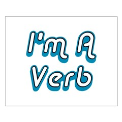 I'm A Verb Small Poster