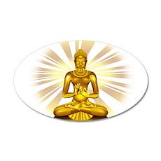Buddha Siddhartha Gautama Golden Statue Wall Decal