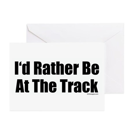 At The Track Greeting Cards (Pk of 10)