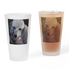 Mercedes Silver Poodle Drinking Glass