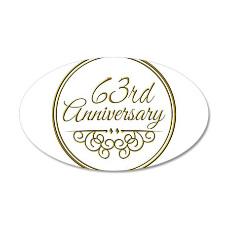 63rd Anniversary Wall Decal