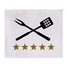 BBQ barbecue Cutlery Throw Blanket