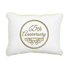 65th Anniversary Rectangular Canvas Pillow