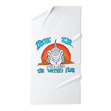 Dive In Shark Beach Towel