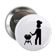 "BBQ barbecue Cook chef 2.25"" Button (100 pack)"