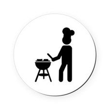 BBQ barbecue Cook chef Cork Coaster