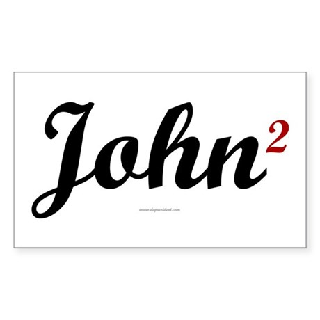 John2. Kerry & Edwards. Rectangle Sticker