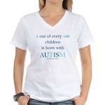 Born With Autism Women's V-Neck T-Shirt