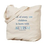 Born With Autism Tote Bag