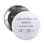 Born With Autism Button