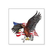 "USA Eagle with Cross Square Sticker 3"" x 3"""