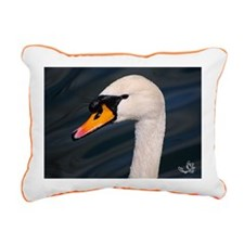 Mute Swan Portrait Rectangular Canvas Pillow