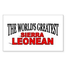 """The World's Greatest Sierra Leonean"" Decal"