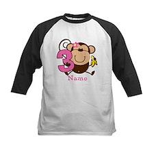 Personalized Monkey Girl 3rd Birthday Tee